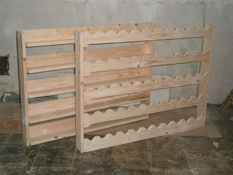 Guida costruire un portabottiglie di legno sostegni laterali - Costruire un portabottiglie in legno ...